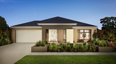 Browse the various new home designs and house plans on offer by Carlisle Homes across Melbourne and Victoria. Find a house plan for your needs and budget today! Facade Design, Exterior Design, Design Your Dream House, House Design, Carlisle Homes, Modern Bungalow House, Building Contractors, Facade House, House Facades