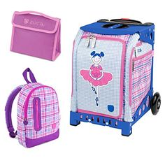 Zuca Mini Ballerina Bag with Frame Snack Pouch and Explorer Backpack Blue Frame Pink Backpack ** Continue to the product at the image link. This is an Amazon Affiliate links.