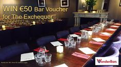 Win Bar Voucher for The Exchequer Bar Conference Room, Dinners, How To Apply, Bar, Random, Home Decor, Dinner Parties, Decoration Home, Room Decor