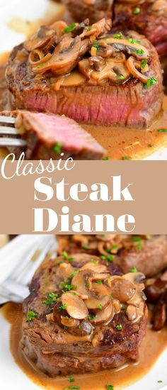 Steak Diane Sauce, Steak Diane Recipe, Beef Recipes, Cooking Recipes, Healthy Recipes, Steak Toppings, Seafood Dishes, Steaks, Entrees