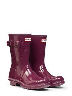 OMG... I ♡♡ THESE! Original Short Gloss Rain Boots | Hunter Boot Ltd