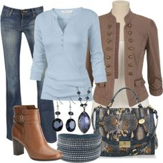 casual Friday work outfit with boots and jeans