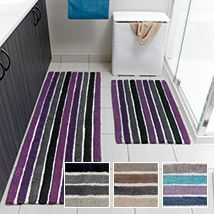 Coleman bath range in Purple from Lorraine Lea Linen Cotton Mats, Vanity Area, Color Pallets, Lorraine, Home Remodeling, Purple, Blue, Cool Things To Buy, Household