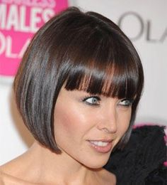 Dannii Minogue in her perfect bobcut that suited her best of all Bobbed Hairstyles With Fringe, Bob Haircut With Bangs, Short Bob Haircuts, Pretty Hairstyles, Wig Hairstyles, Short Human Hair Wigs, Short Hair Cuts, Short Hair Styles, Great Hair