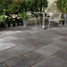 Our range of beautiful porcelain, natural stone and concrete paving slabs are designed to help you transform your garden or patio into a stunning showpiece, tranquil retreat or functional entertaining space. Concrete Patios, Paver Stone Patio, Limestone Patio, Garden Pavers, Patio Slabs, Patio Tiles, Paving Stones, Backyard Patio, Bradstone Paving