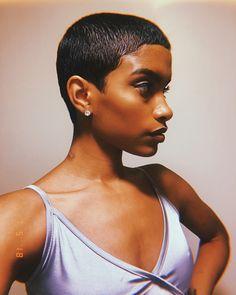 Best Natural Hair St - February 24 2019 at Cute Hairstyles For Short Hair, Black Girls Hairstyles, Short Hair Cuts, Curly Hair Styles, Natural Hair Styles, Wedge Hairstyles, Bandana Hairstyles, Pixie Cuts, Love Hair