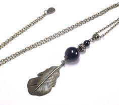 Sautoir collier bronzelongue chaine par FrancoiseCreations