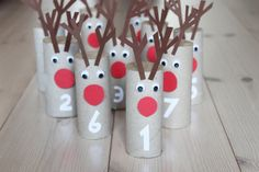How to make a Rudolf toilet paper roll advent calendar!