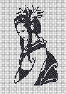grilles point de croix: Geisha