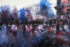 Paris watercolor by nicolasjolly (print image)