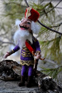Needle+Felted++Nutcracker+.+Art+doll+by+darialvovsky+on+Etsy  nutcracker to go with snowflake dancers