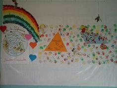 Mural dos dereitos dos nen@s.