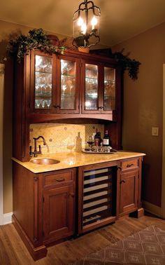 Elegant Bar Cabinet with Kegerator
