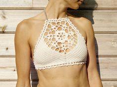 PDF-files for 2 Crochet PATTERNS: Venus crop Top and Aliyah Crochet Bikini Bottom Sizes XS-L, surfer bikini, Highwaist bottom Motif Bikini Crochet, Top Crop Tejido En Crochet, Bikinis Crochet, Crochet Bikini Bottoms, Crochet Top, The Bikini, Bikini Tops, Crochet Chart, Crochet Patterns