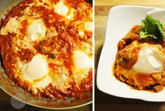 Eggs poached in tomato sauce make this an irresistible dish. Smoky, spicy sauce and golden yolks make this shakshuka sophreakin' good! Shakshuka Recipes, Spicy Sauce, Poached Eggs, Tomato Sauce, Grain Free, Lasagna, Free Food, Free Recipes, Pizza