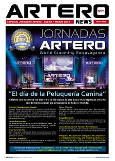 La revista de peluquería canina Artero News Portada nº 25