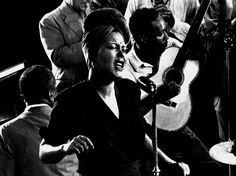"""Billie Holiday sings her standard, """"Fine and Mellow,"""" accompanied by James P. Johnson on piano and others, New York, 1943. Gjon Mili"""