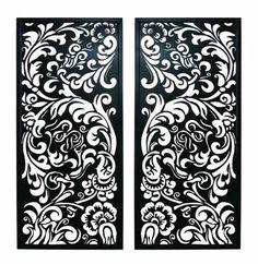 Constantia Laser Cut Metal Reversible Wall Plaque with Floral Design