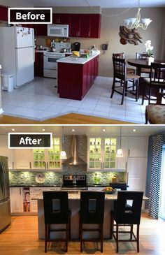 4 Miraculous Useful Tips: Old Kitchen Remodel Benjamin Moore kitchen remodel ideas.Kitchen Remodel Before And After Dark. Ikea Kitchen Remodel, Kitchen Remodel Before And After, New Kitchen, Kitchen Remodeling Projects, Home Kitchens, Cheap Kitchen Remodel, Kitchen Layout, Budget Kitchen Remodel, Kitchen Design