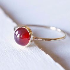Red Carnelian Ring in 14k Gold  http://www.luxuring.ca #handmade #rings #engagementring #rosegold #luxuring