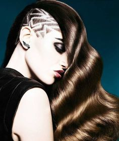 null Hairstyles Over 50, Braided Hairstyles, Shaved Hairstyles, Medium Hairstyles, Hairdos, Long Hair Dos, Hair Places, Shaved Hair Designs, Hot Haircuts