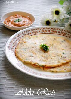 Humble and simple Indian rice flour bread - Akki Roti (gluten free)