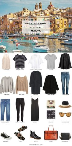 What to Pack for Malta Packing Light List #packinglist #packinglight #travellight #travel #livelovesara