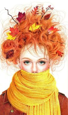 let the wind of autumn tousle your hair. feel it's cold blow