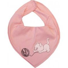 """Bavoir foulard bébé """"Chat"""" rose - NAME IT"""
