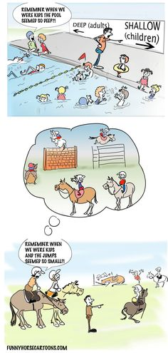 Horse Jumping comic....so true, as per my lessons lately