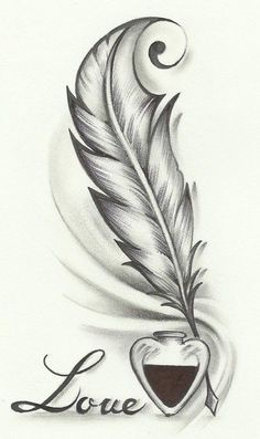 Feather drawing, feather tattoo design и tattoo drawings. Feather Drawing, Feather Tattoo Design, Feather Tattoos, Body Art Tattoos, Feather Sketch, Tatoos, Pencil Art Drawings, Easy Drawings, Drawing Sketches