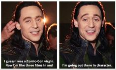 His face in the second one! He's so excited like a little kid!!