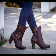 I just discovered this while shopping on Poshmark: Clarks boots - burgundy - size 5NWT. Check it out! Price: $88 Size: 5, listed by walkinwondrland