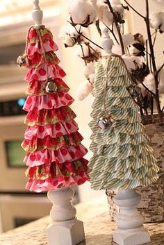 O Melhor do Artesanato de Pernambuco: Árvore de Natal de tecido e babados