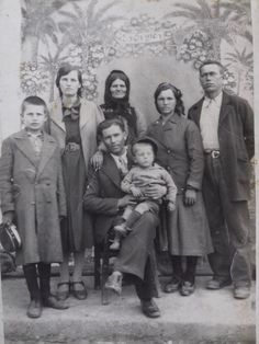 Vintage real photo Balkan - family photo from Antique Photos, Vintage Pictures, Vintage Photographs, Deep Photos, Old Photos, Family Portraits, Family Photos, Haunting Photos, Vintage Black Glamour