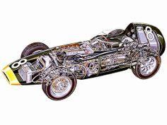 Vanwall race car - cutaway