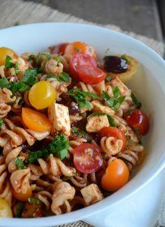 Tomato & Feta Pasta Salad Recipe, www.mountainmamacooks.com