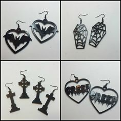 Coffin Kitsch: Kitsch Picks : Earrings by Dulce Calaveritas #goth #jewelry #etsy