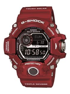 """G-SHOCK Launches Master Of G - Man In Red - the new color collection called """"Man In Red"""" includes G-Shock Mudman and Rangeman models... now see our """"Casio GW9400 Rangeman Watch Review: Best G-Shock Today?"""" article on aBlogtoWatch.com"""