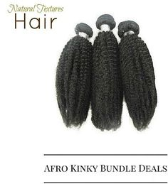 Natural Textures Hair has great #bundledeals  with our #kinkycurly #afrokinky and #deepwave hair....link in bio