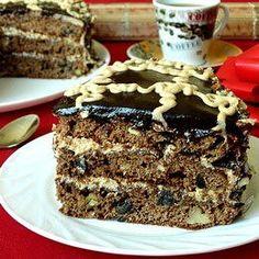 коньячно-кофейный торт с черносливом