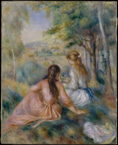 In the Meadow by Pierre Auguste Renoir.