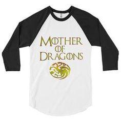 Mother of Dragons Raglan
