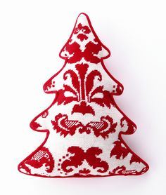 Peking Handicraft Red Toile Tree Shaped Pillow via Wayfair