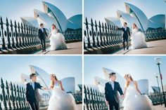 Holding hand and walk in front of the Sydney Opera House