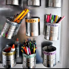 Cool idea for holding kids arts and crafts