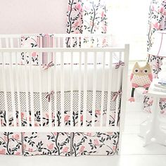 Feather Your Nest in Pink Baby Bedding
