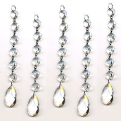 14mm octagon crystals and a 38mm clear crystal almond prism pendant $9.95