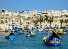 In the harbour of Marsaxlokk, Malta