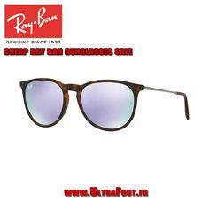 Pas cher Ray-Ban RB4171 Lunettes de soleil ERIKA 54 EN MIROIR Tortue Violet  Miroir 7cb957f14a47